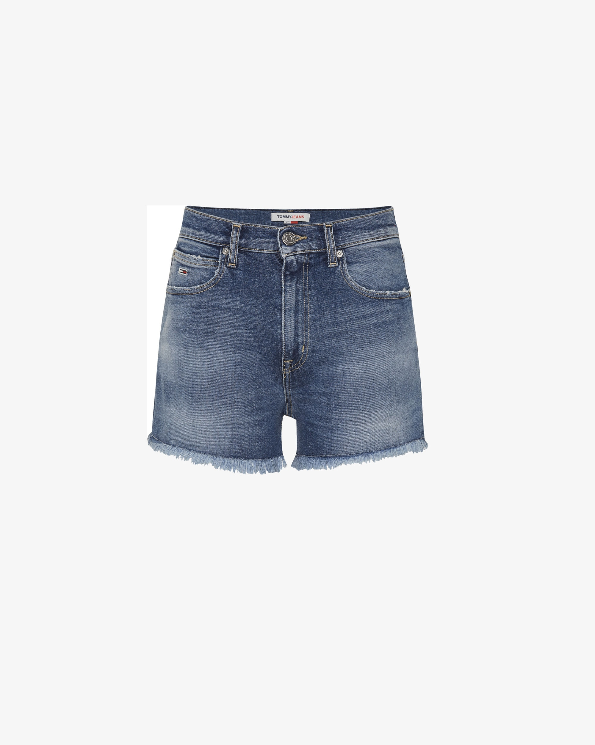 Tommy Hilfiger Shorts in denim relaxed-fit con logo Donna