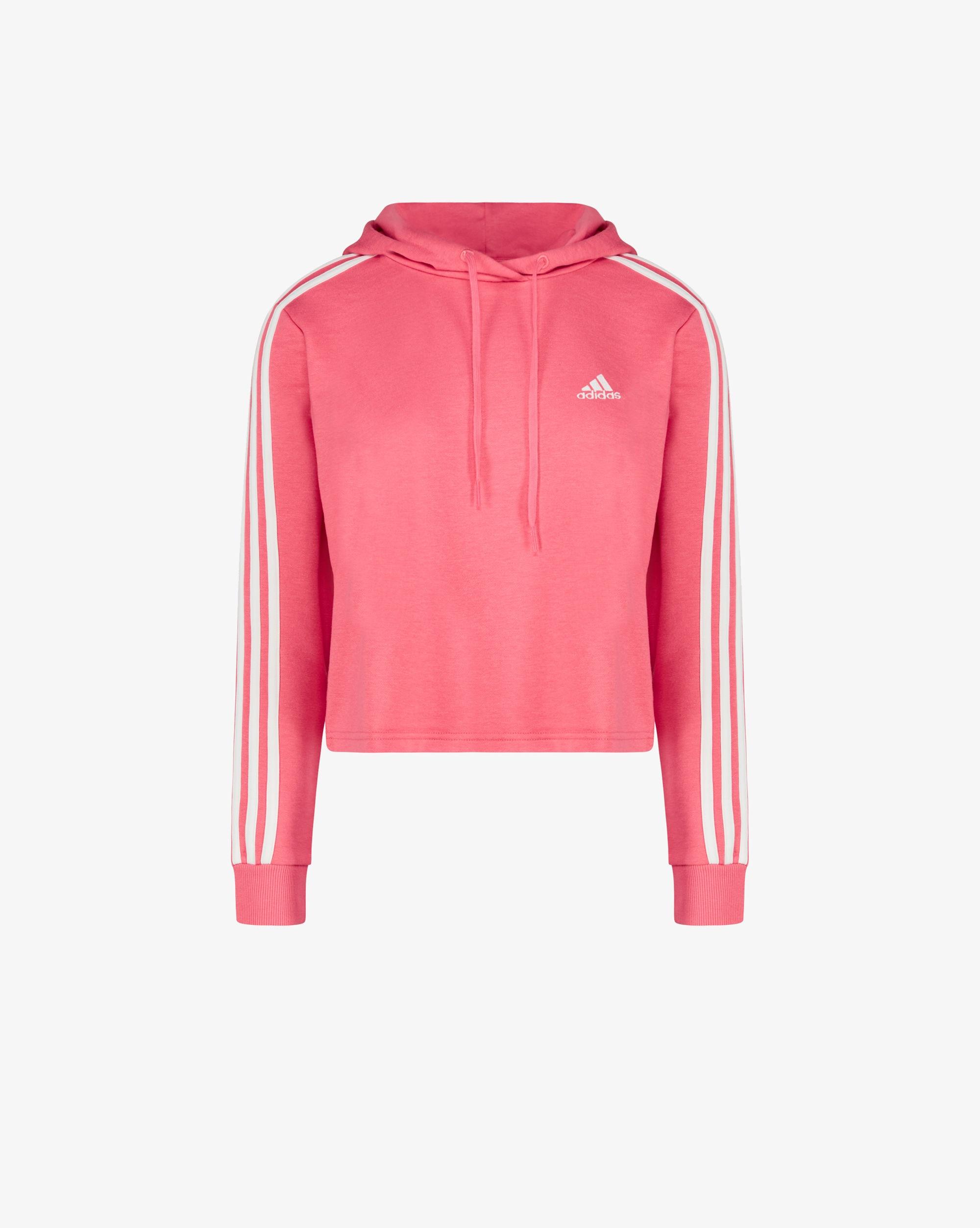 Adidas Felpa Cropped Essentials 3-Stripes Donna