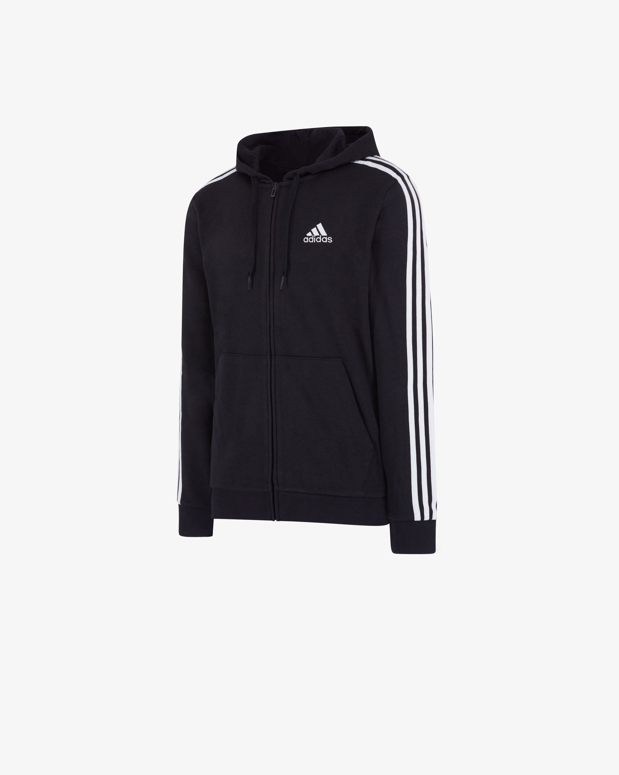 Adidas Felpa Essentials French Terry 3-Stripes Full|Zip Uomo