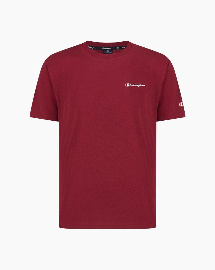 Champion T-shirt girocollo con logo Viola Uomo