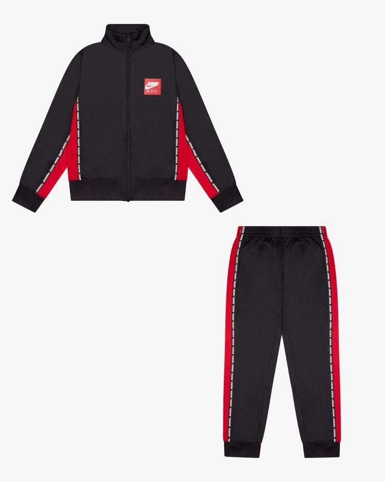 Nike Jordan Tuta 2 pezzi Jumpman Tricot con bande-logo Bambino
