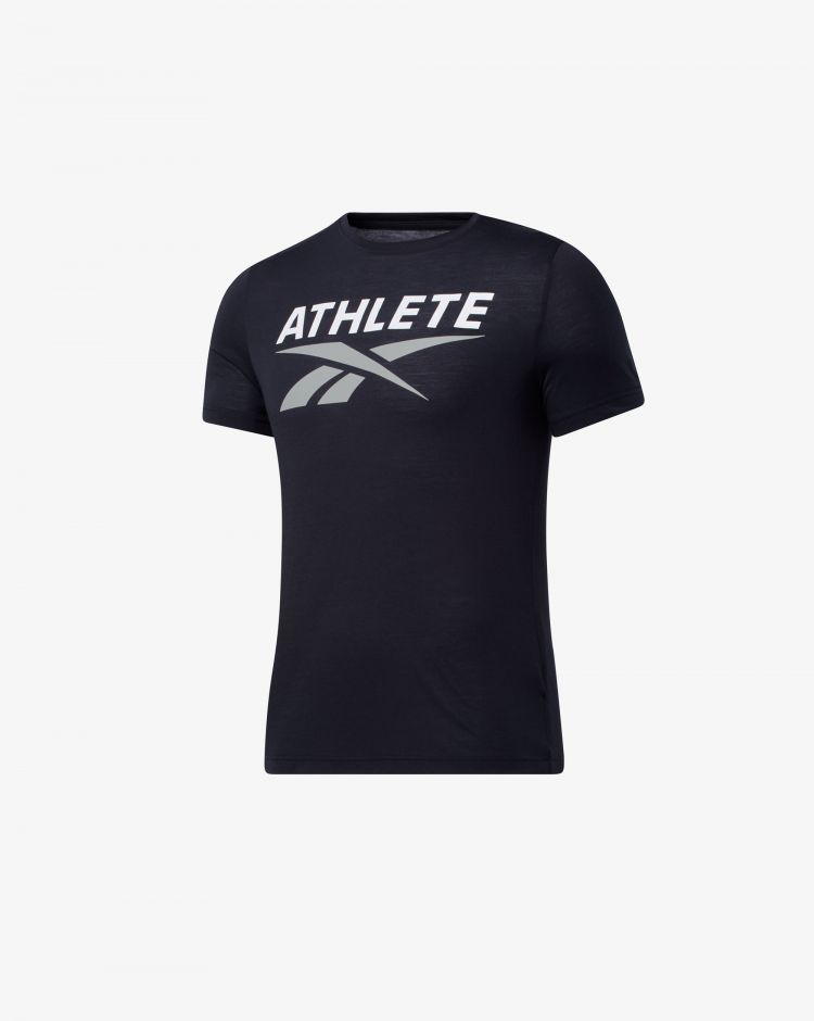 Reebok T-Shirt Athlete Vector Graphic Uomo