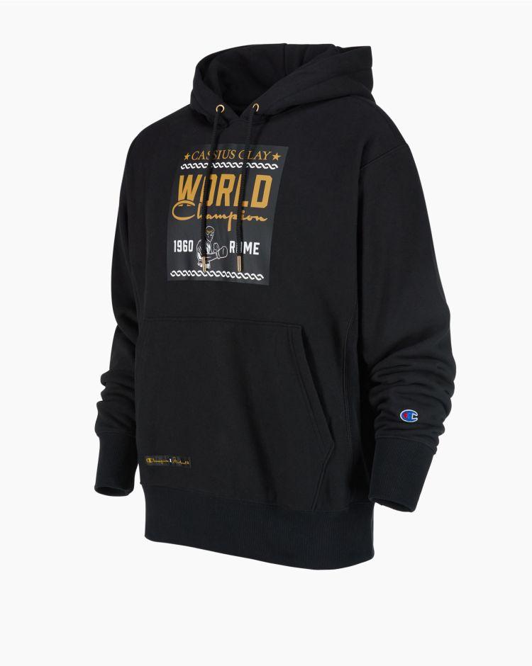 Champion x Muhammad Ali Hooded Sweatshirt Nero Uomo