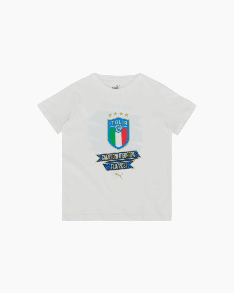 Puma Figc Blank Winner Tee Jr Bianco Bambino