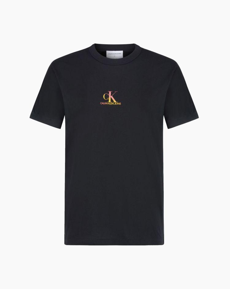 Calvin Klein Gradient Back Big Logo Tees Nero Uomo