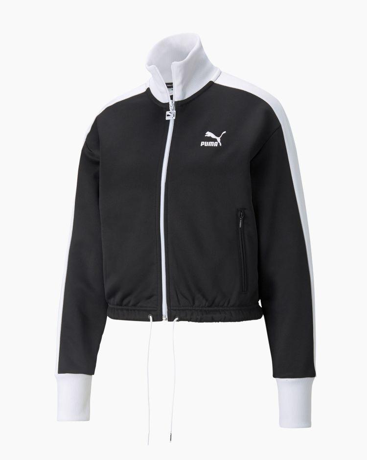Puma Iconic T7 Crop Jacket Nero Donna