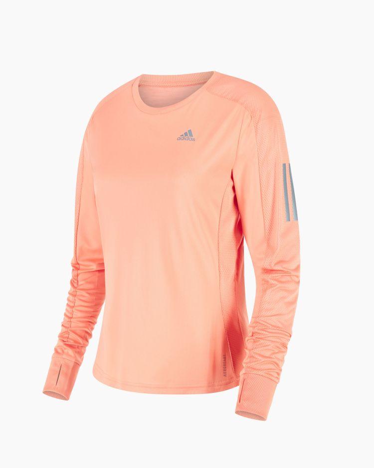 Adidas T-shirt a maniche lunghe Own The Run Rosa Donna