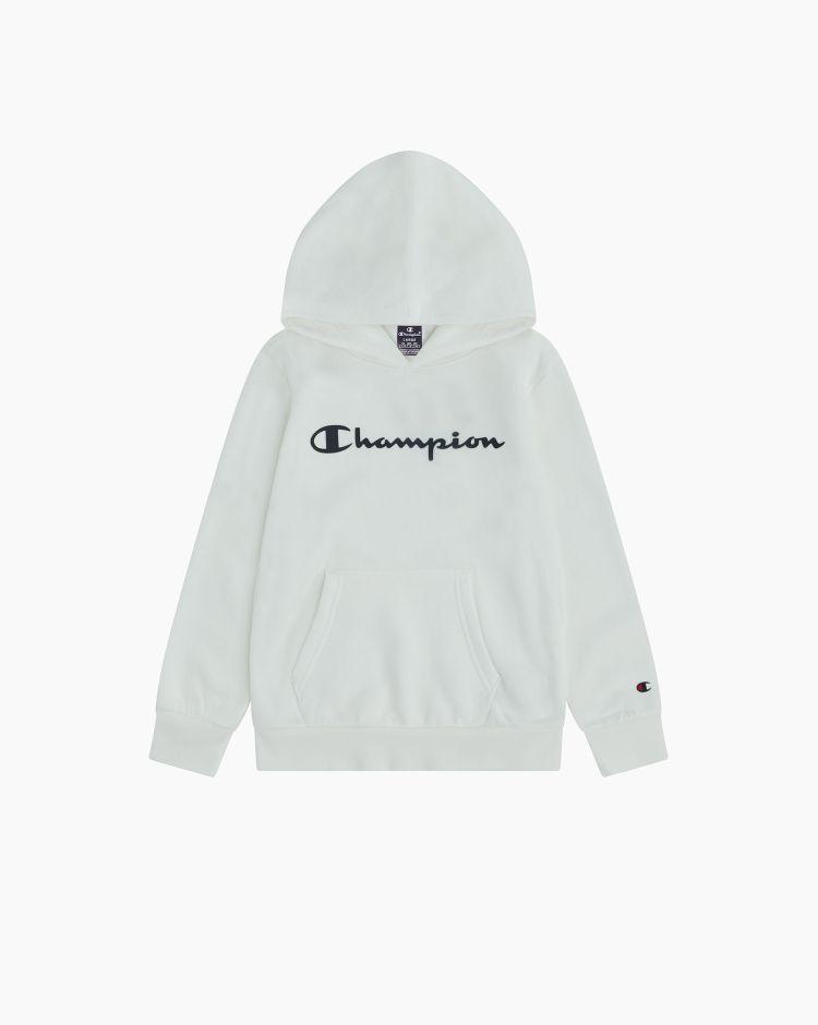 Champion Felpa con cappuccio e logo Bianco Bambino