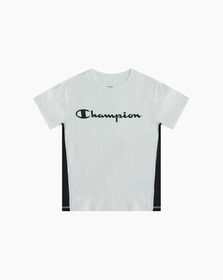Champion T-shirt crop con logo Bianco Donna