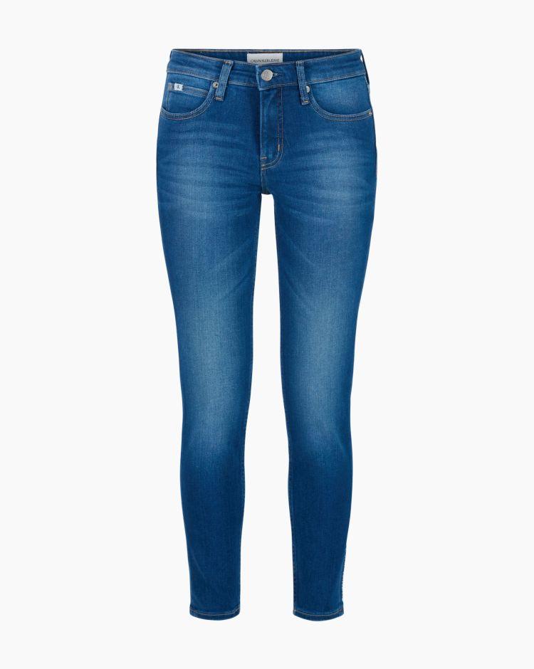 Calvin Klein Medium Rise Skinny Blu Donna