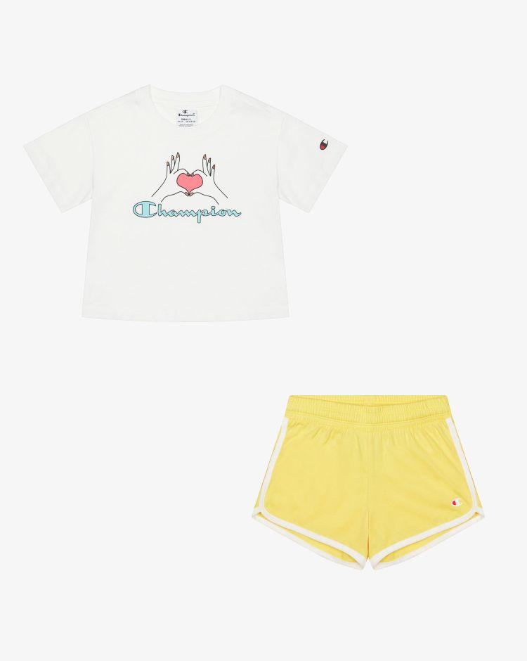 Champion Set t-shirt + shorts Bambina