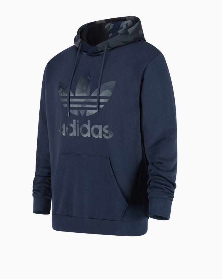 Adidas Camo Hoody Blu Uomo