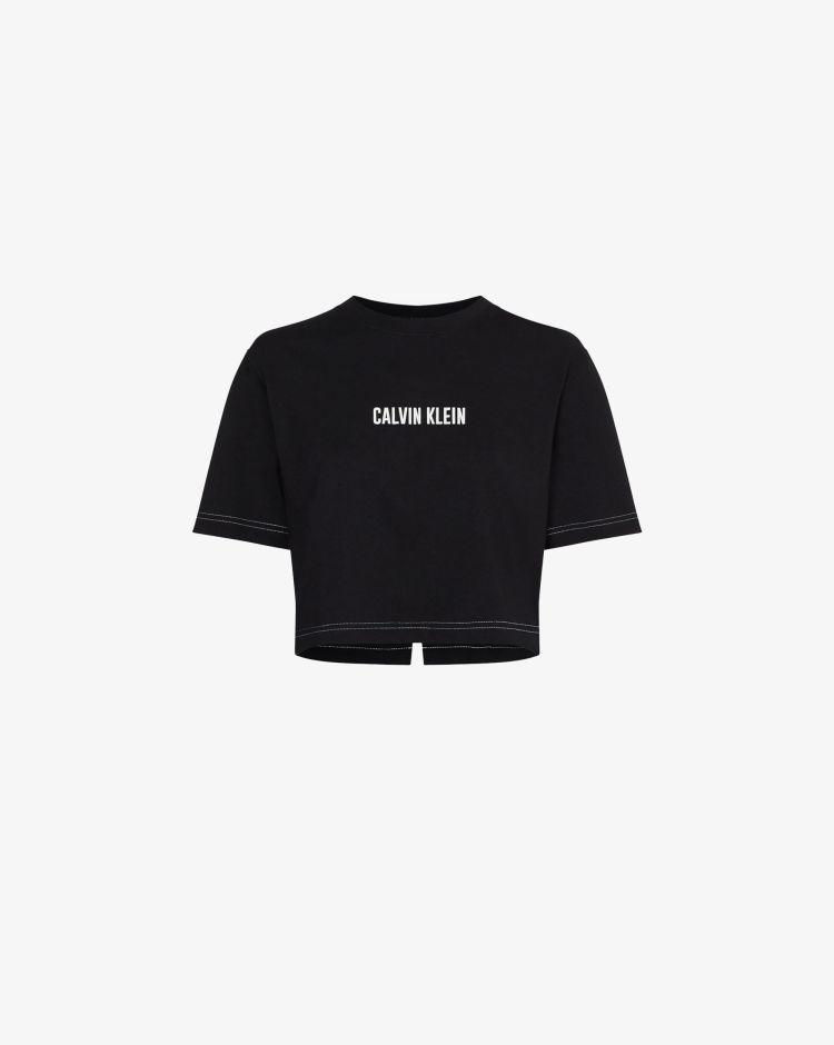 Calvin Klein T-shirt boxy con logo Donna