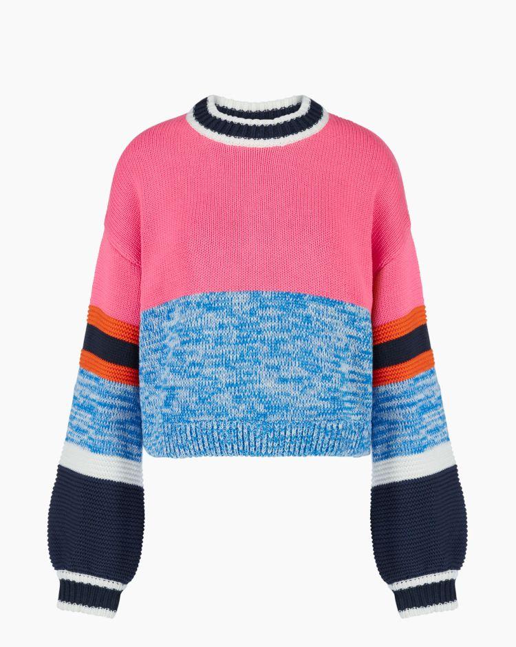 Tommy Hilfiger Tjw Colorblock Sweater Rosa Donna