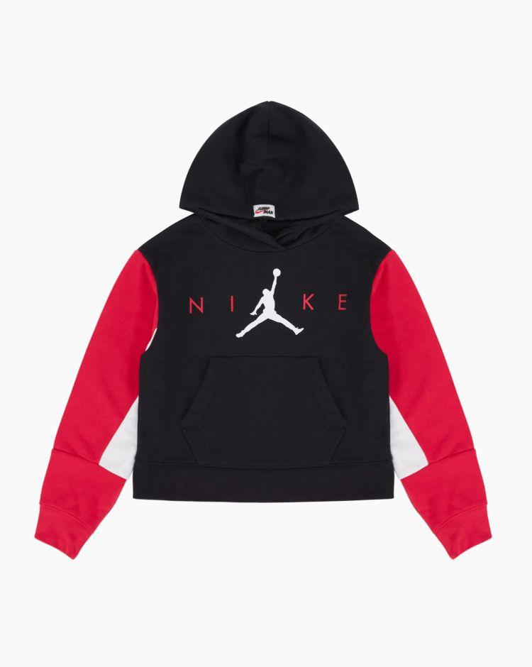 Nike Jordan Jumpman Boxy Hoodie Nero Bambina