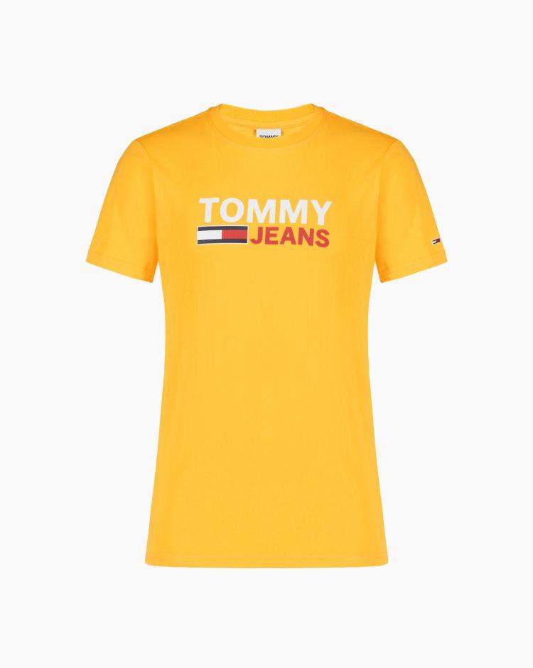 Tommy Hilfiger Tjm Corp Logo Tees Giallo Uomo
