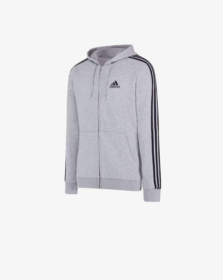 Adidas Felpa Essentials French Terry 3-Stripes Full Zip Uomo