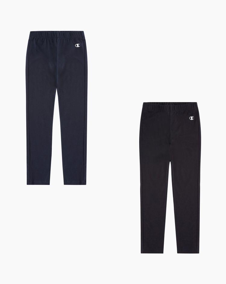 Champion Set di 2 pantaloni con C logo Nero Bambina