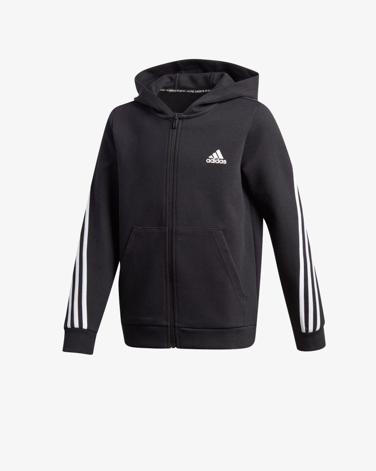Adidas Felpa 3-Stripes Doubleknit Full-Zip Bambino