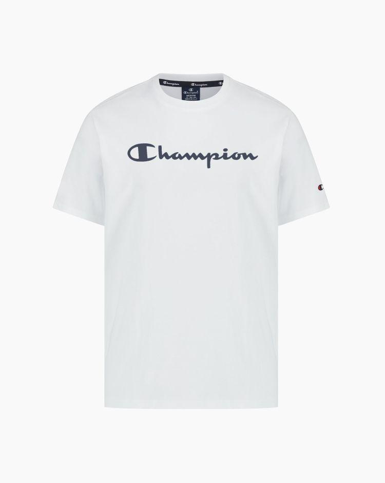 Champion T-shirt in cotone con logo Bianco Uomo