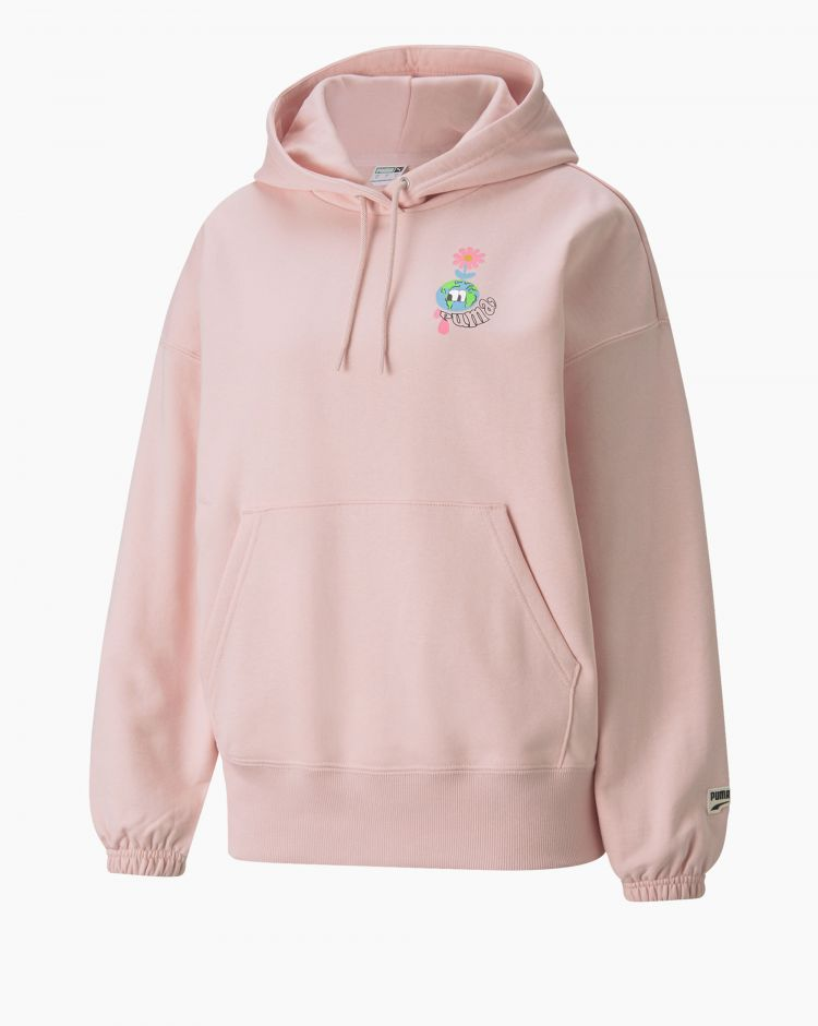 Puma Downtown Graphic Hoodie Rosa Donna