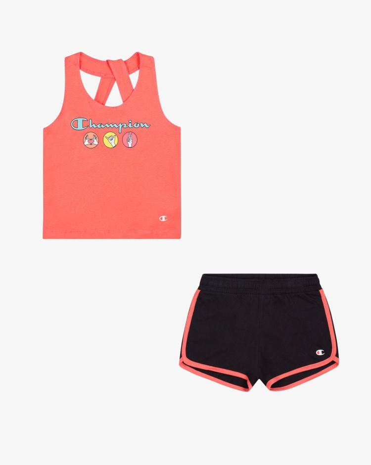 Champion Set top + shorts Bambina