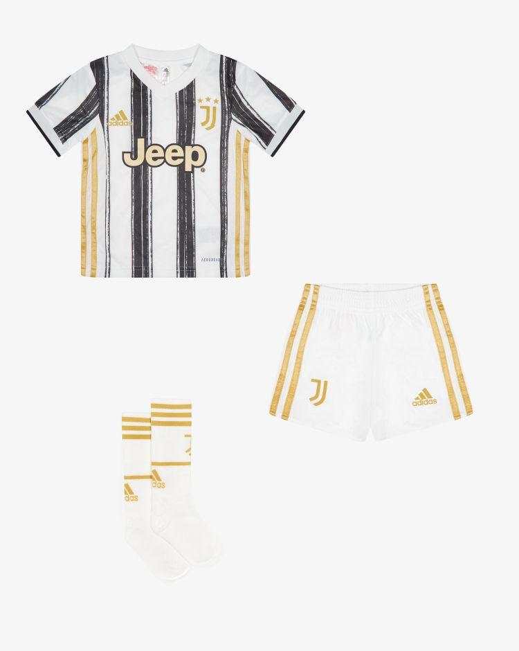 Adidas Divisa Mini Home Juventus 2020/2021 - Set 3 pezzi Bambino