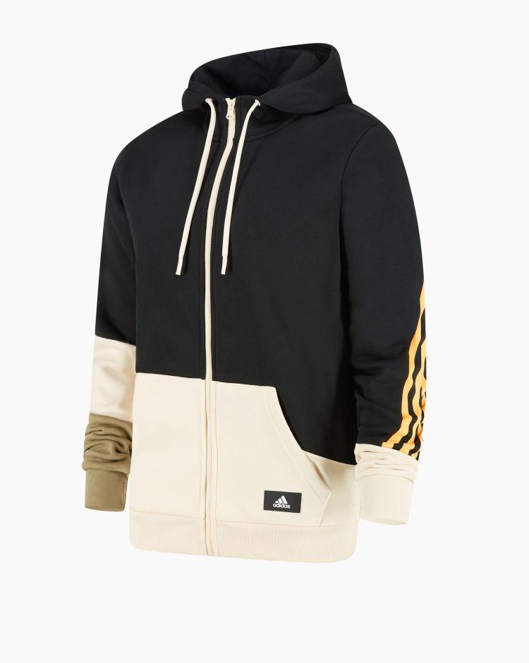 Adidas Felpa Colorblock Nero Uomo