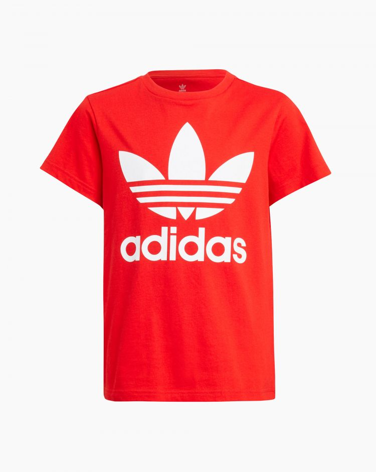 Adidas Trefoil Tee Rosso Bambino