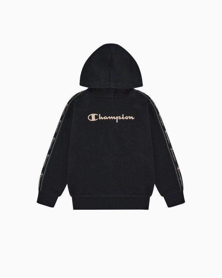 Champion Felpa con cappuccio logo-tape Nero Bambina