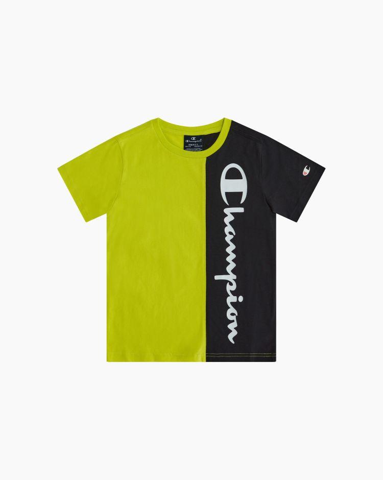 Champion T-shirt girocollo color-block Giallo Bambino