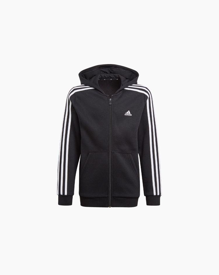 Adidas Felpa 3 Stripes Nero Bambino