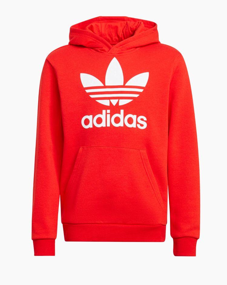 Adidas Trefoil Hoodie Rosso Bambino