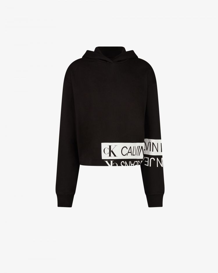 Calvin Klein Felpa con cappuccio e logo specchiato Donna