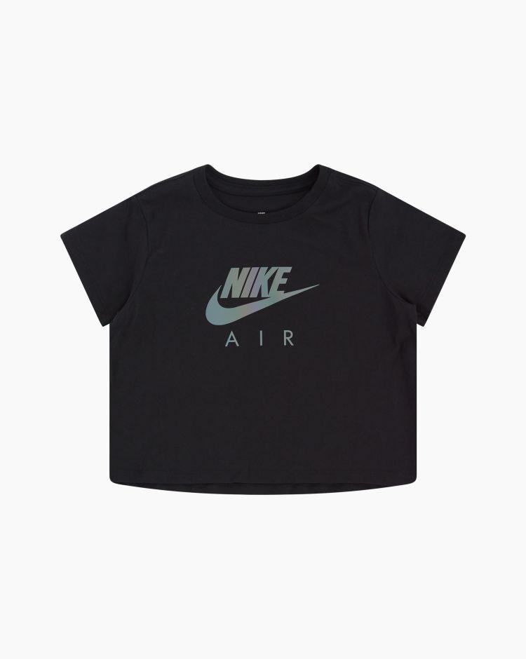 Nike NsTee Crop Air Nero Bambina