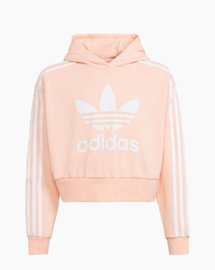 Adidas Cropped Hoodie Rosa Bambina