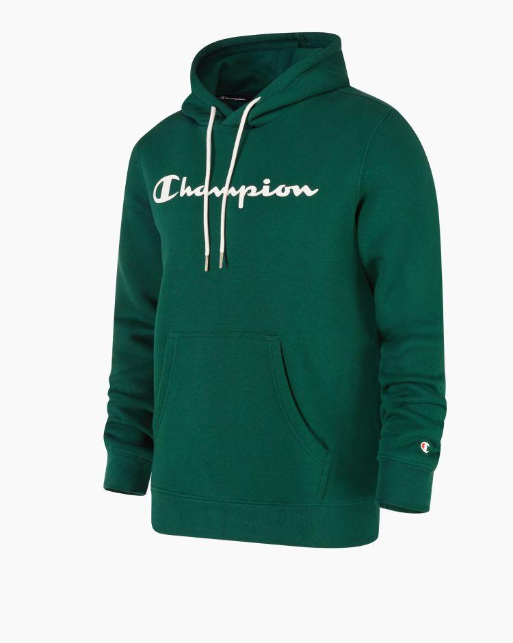 Champion Felpa con cappuccio e logo Verde Uomo