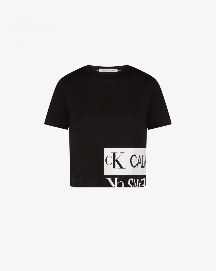 Calvin Klein T-shirt boxi con logo specchiato Donna