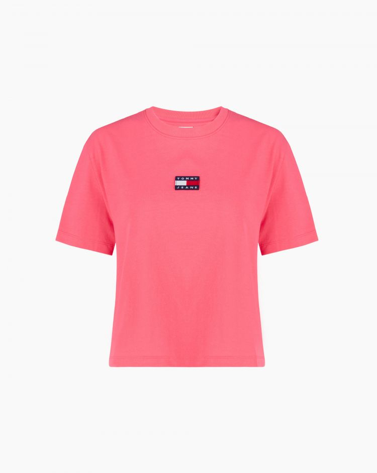 Tommy Hilfiger Tommy Badge Tee Rosa Donna