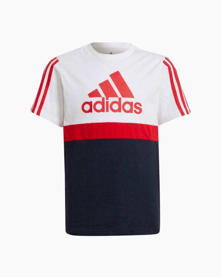 Adidas T-Shirt Essentials Foundation Bianco Bambino