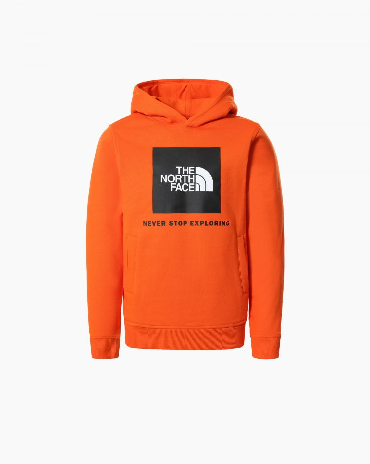 The North Face Box P/O Hoodie Rosso Bambino