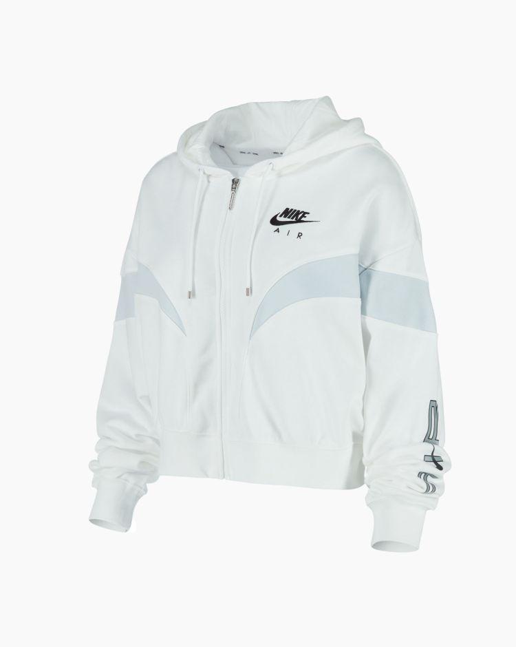 Nike NsAir Flc Gx Fz Hoodie Bianco Donna