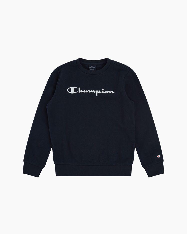 Champion Felpa girocollo con logo Blu Bambino