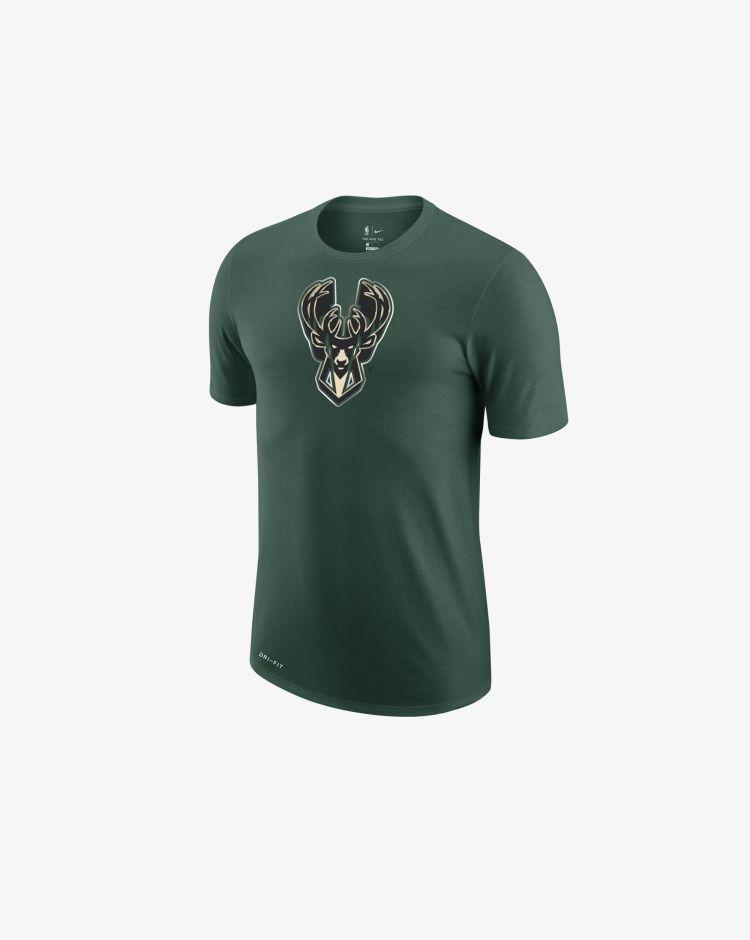 Nike NBA Milwaukee Bucks Earned Edition T-Shirt Uomo
