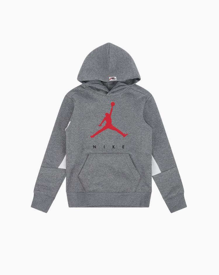 Nike Jordan Felpa Jumpman Grigio Bambino