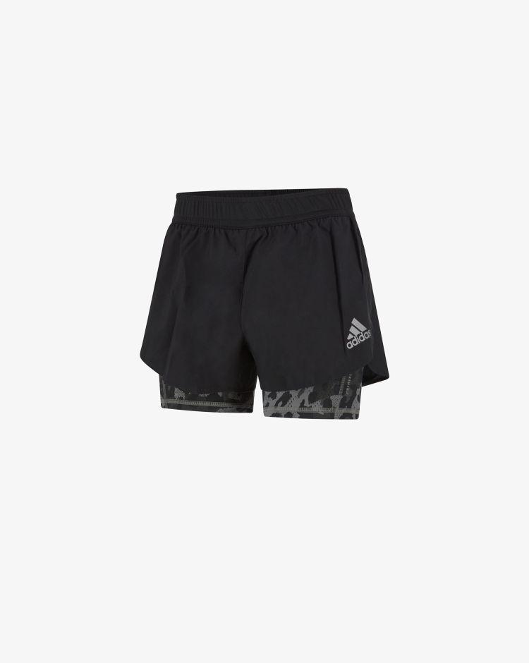 Adidas Pantaloncini 2-in-1 Fast Primeblue Graphic Donna