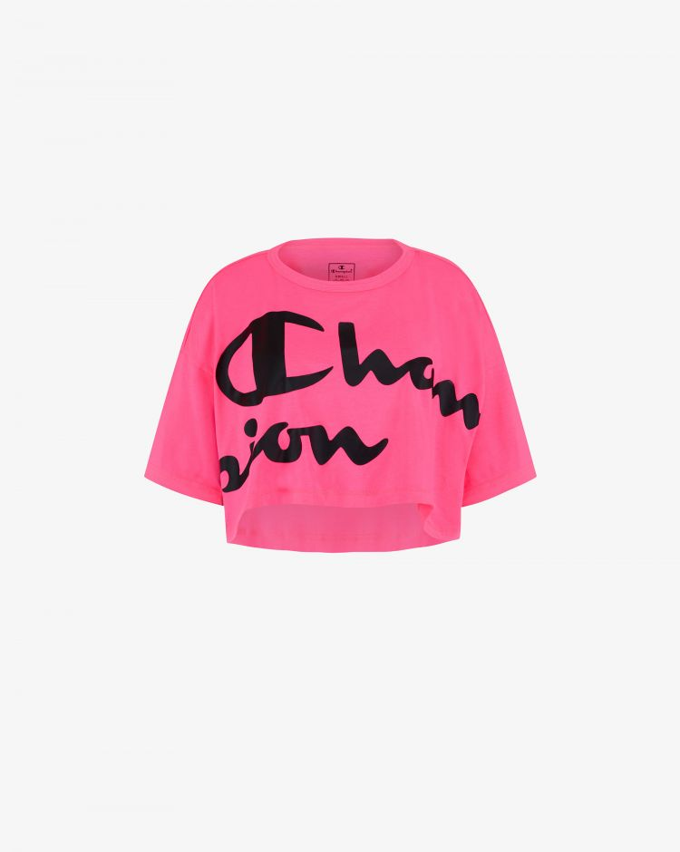Champion T-shirt crop con logo Donna