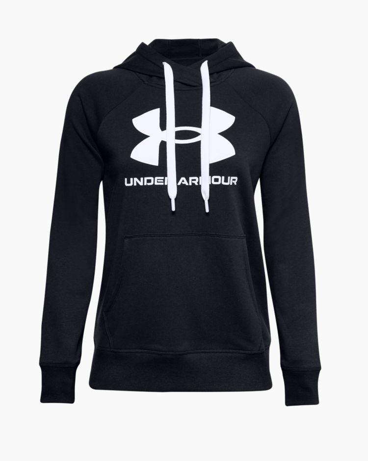 Under Armour Rival Fleece Logo Hoodie Nero Donna