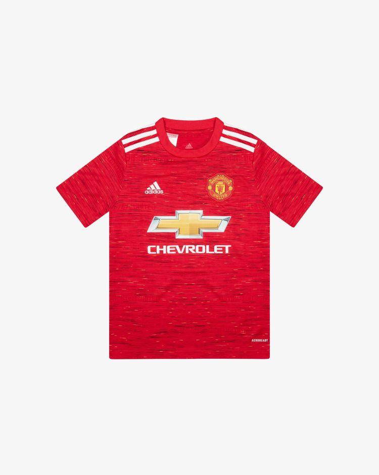 Adidas Manchester United Home 2020/2021 T-Shirt Replica Bambino