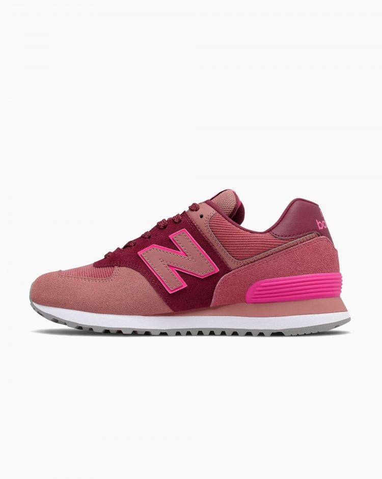 New Balance 574 Suede Rosa Donna